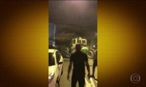 Motorista descontrolado causa pânico em Santos (SP)
