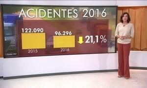 Número de acidentes nas rodovias federais cai 21% em 2016