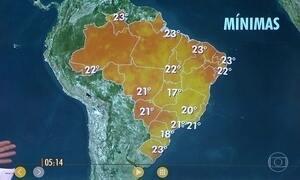 Confira a previsão do tempo para a terça-feira (14)