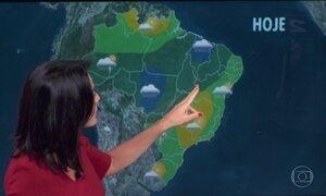 Previsão é de chuva em parte do Nordeste