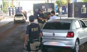 Cresce o número de roubo de placas de carro na fronteira com o Paraguai
