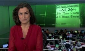 Violência contra jornalistas no Brasil aumentou mais de 60% entre 2015 e 2016