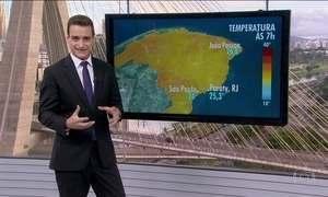 Confira a previsão do tempo para esta quinta-feira (2)