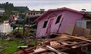 Forte temporal no RS deixou um morto e dez pessoas desaparecidas