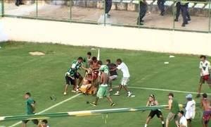 Termina em pancadaria jogo entre Gama e Brasiliense no DF