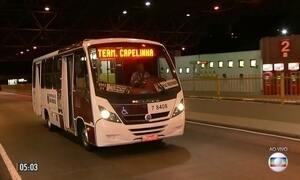 Protesto causa paralisação do transporte público em SP