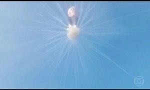 Imagens mostram o perigo dos balões no céu