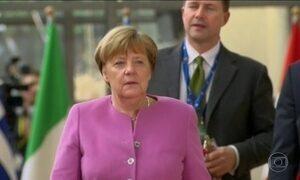 Angela Merkel se encontra com Donald Trump em Washington