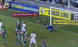 Palmeiras vence Santos de virada no Campeonato Paulista