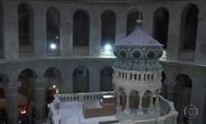 Reaberto local onde cristãos acreditam que Jesus Cristo foi sepultado