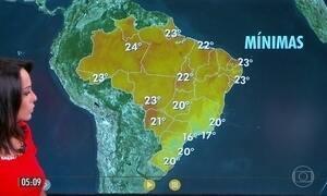 Confira a previsão do tempo para a sexta-feira (24)