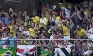 Seleção Brasileira faz treino aberto em São Paulo para 13 mil pessoas