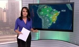 Previsão é de chuva para várias regiões do Brasil nesta quinta-feira (20)