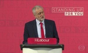 Líder da oposição promete derrotar favoritismo de Theresa May no Reino Unido