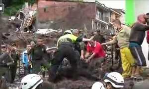 Deslizamento de terra deixa 17 mortos na Colômbia