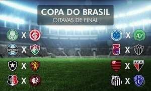 CBF sorteia times das oitavas de final da Copa do Brasil