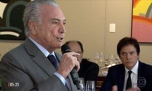 Michel Temer pede atuação de governadores em defesa da Reforma da Previdência