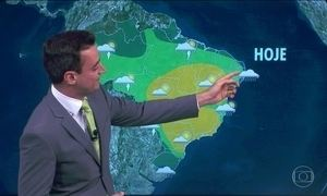 Previsão é de chuva no Sul, no Norte e no litoral nordestino