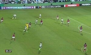 Coritiba goleia o Atlético-GO no encerramento da rodada do Brasileirão