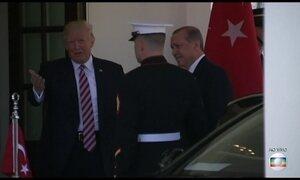 Trump recebe, pela primeira vez na Casa Branca, o presidente da Turquia, Recep Erdogan