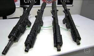 Polícia realiza grande apreensão de armas e drogas no interior de SP