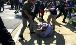 Protesto em Washington contra o presidente turco termina em violência