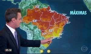 Confira a previsão do tempo para a quinta-feira (18)