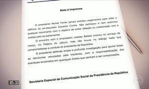 Planalto divulga nota com posição de Michel Temer sobre revelações de dono da JBS