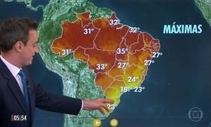 Confira a previsão do tempo para a sexta-feira (19)