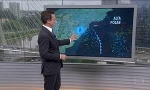 Massa de ar polar derruba temperaturas no Sul e em partes do Sudeste