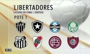 Sorteio definirá confrontos da próxima fase da Libertadores