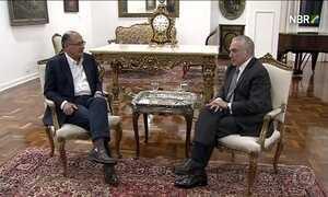 Michel Temer se reúne com Geraldo Alckmin em São Paulo