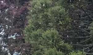 Previsão de neve se confirma nessa sexta-feira (9) na Serra Catarinense