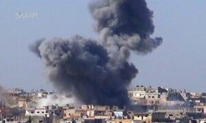 Helicópteros do exército sírio bombardeiam o sudeste do país