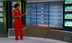 Chuva marca presença o litoral nordestino e no extremo norte do Brasil