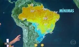 Serras do Sul do país devem registrar temperaturas abaixo de zero