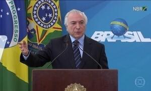 Presidente Michel Temer anuncia liberação de verbas para a saúde