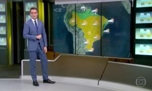 Chuva continua concentrada no norte do Norte do Brasil e se espalha até o ES
