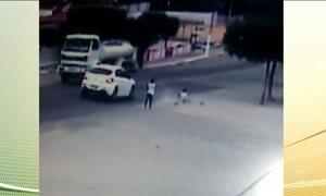 Na Paraíba, câmeras de segurança registram acidente que poderia ter terminado em tragédia