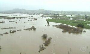 Fortes chuvas deixam Ilha Sul, na Nova Zelândia, em estado de emergência