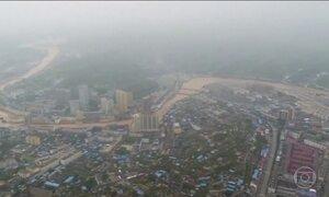 Tempestade extremamente forte atinge o noroeste da China