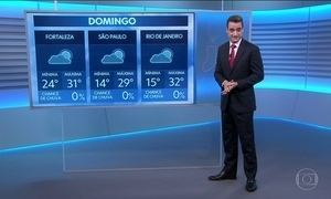 Confira a previsão do tempo para este domingo (13)