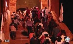 Devotos celebram Nossa Senhora da Abadia em santuário em MG