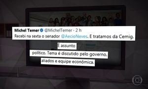 Michel Temer diz que não interfere em assuntos de outros partidos