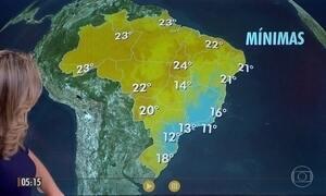 Confira a previsão do tempo para a sexta-feira (25)