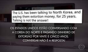 Donald Trump afirma que diálogo não é resposta para lidar com Coreia do Norte