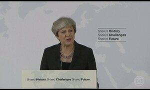 Primeira-ministra britânica Thereza May faz discurso sobre futuro da União Europeia