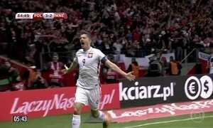 Lewandowski marca em vitória da Polônia contra Montenegro