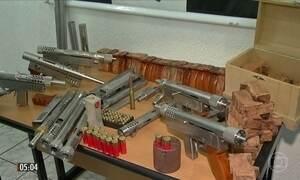 Polícia descobre fábrica clandestina de metralhadoras em SP
