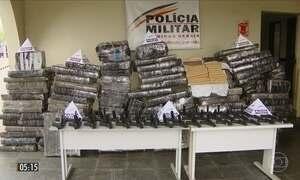 Polícia apreende armas de uso restrito e maconha escondidos em carga de farinha de trigo em MG